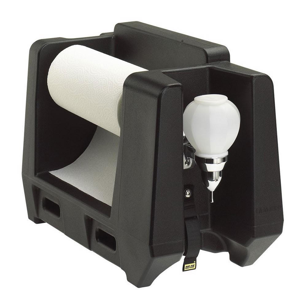 Cambro HWAPR110 Handwashing Station - Roll Paper Towel/Soap Dispenser, Black