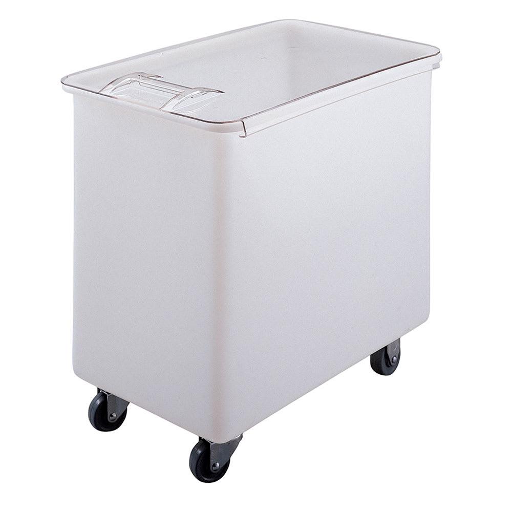 Cambro IB44148 42 1/2 gal Mobile Ingredient Bin - Sliding Cover, White