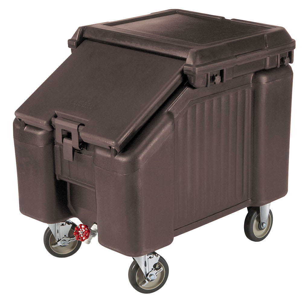 "Cambro ICS100L4S131 100 lb Ice Caddy - Sliding, Slant Top, 28.75"" H"