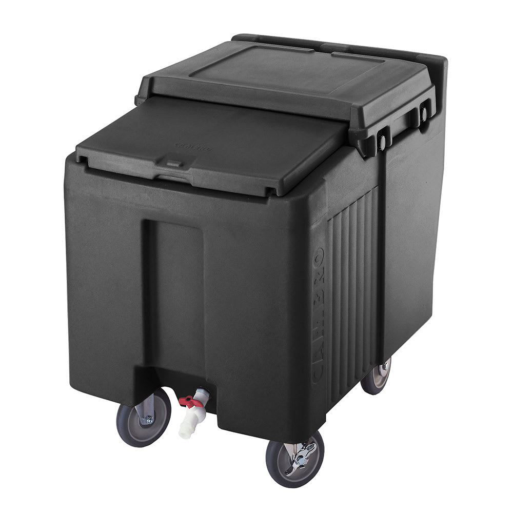 "Cambro ICS125LB110 125 lb Ice Caddy - Sliding, Flat Top, 29.25"" H"