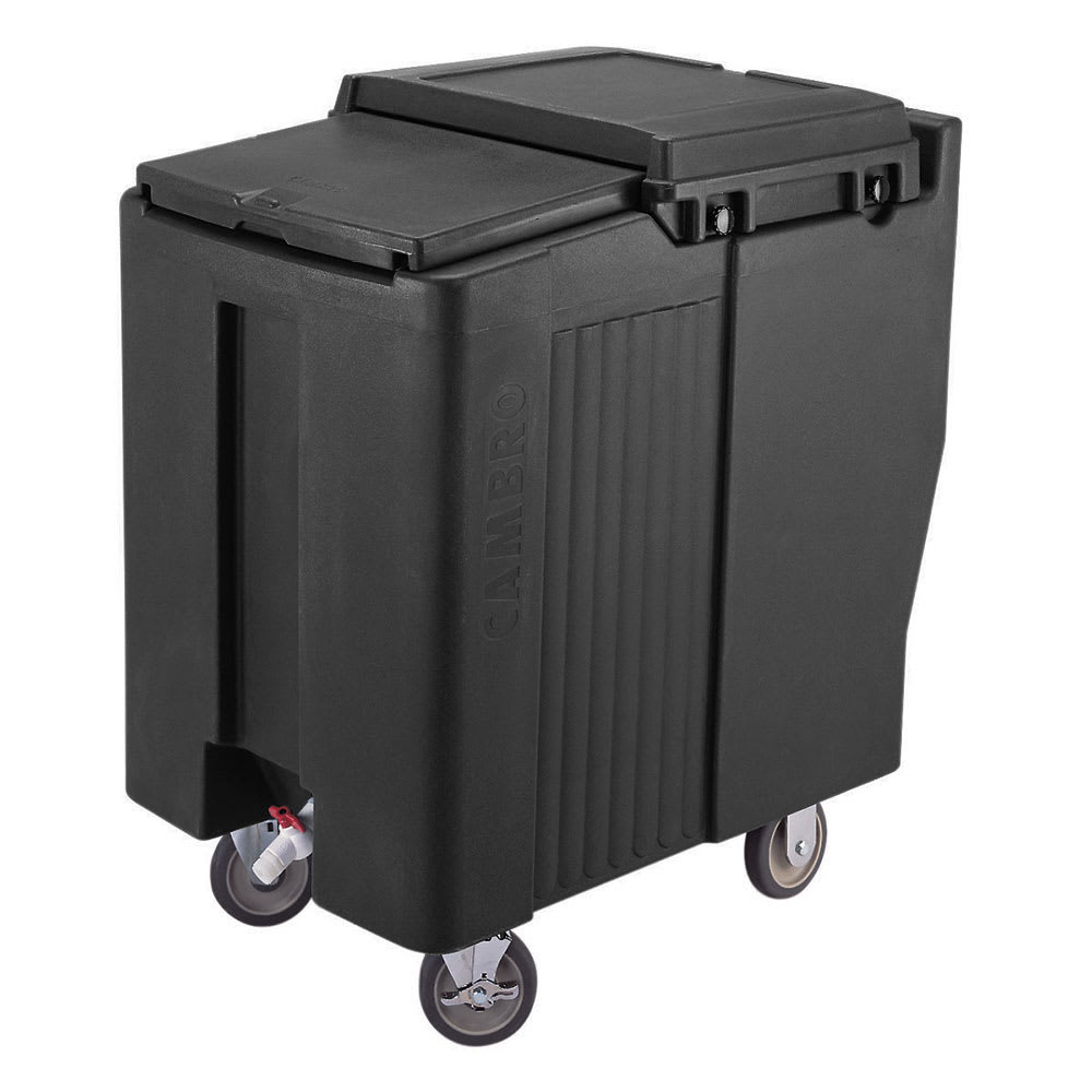 "Cambro ICS125T110 125 lb Ice Caddy - Sliding, Flat Top, 34.5"" H"
