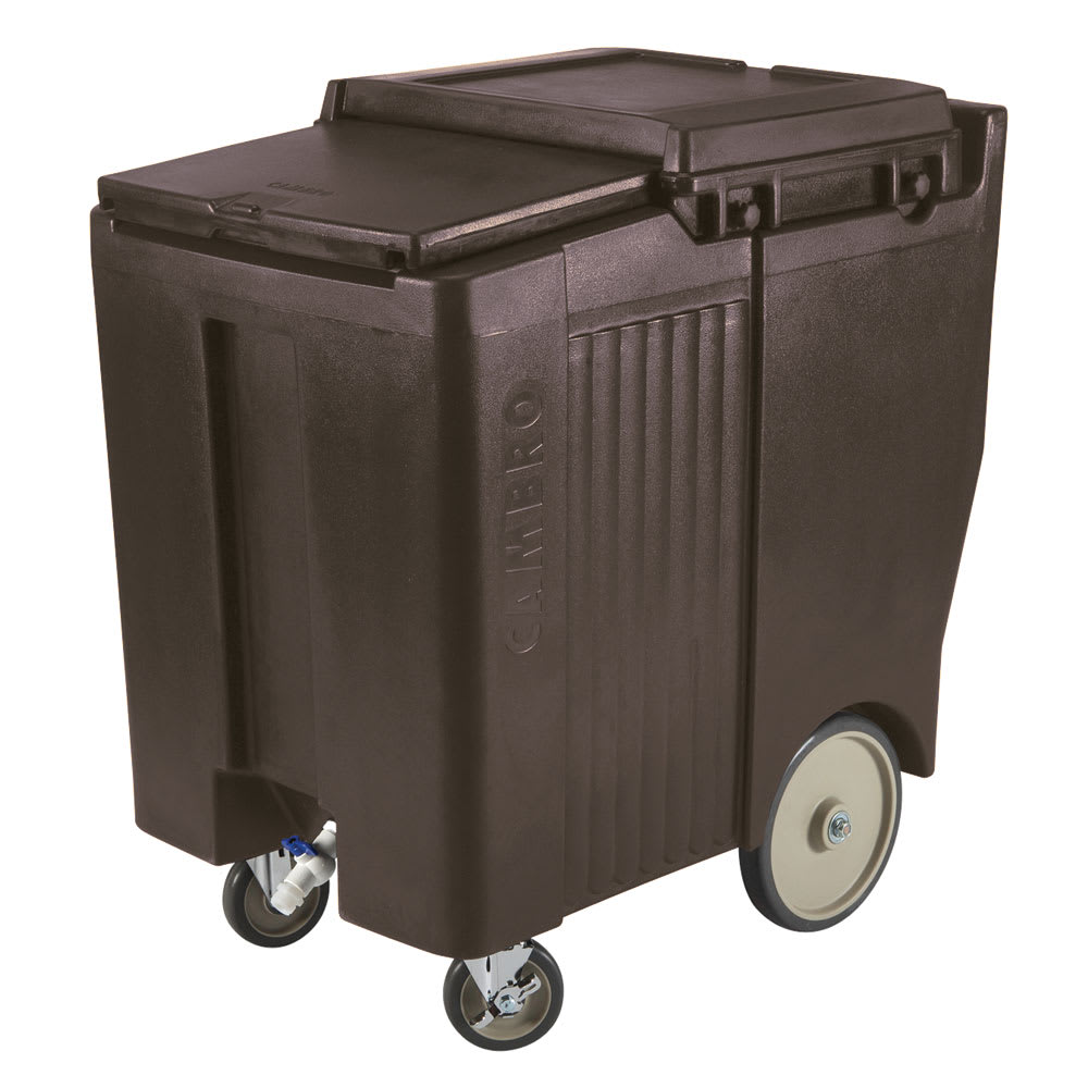 "Cambro ICS175TB131 175 lb Ice Caddy - Sliding, Flat Top, 37.50"" H"