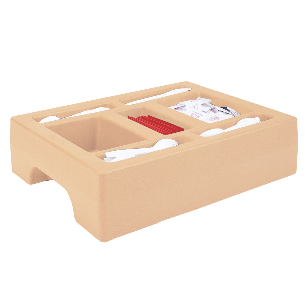 "Cambro LCDCH10157 Camtainer Condiment Holder - 20x16x5"" Coffee Beige"