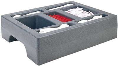 "Cambro LCDCH10191 Camtainer Condiment Holder - 20x16x5"" Granite Gray"