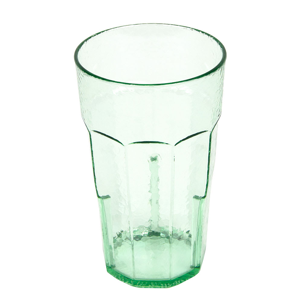 Cambro LT22427 22 oz Laguna Fluted Tumbler - Spanish Green