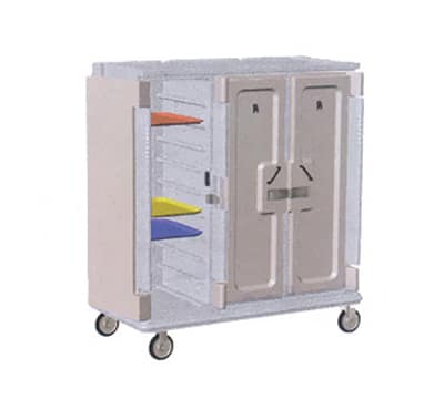 """Cambro MDC1418T30180 Meal Delivery Cart - Holds (30)14x18"""" Trays, Gray/Cream"""