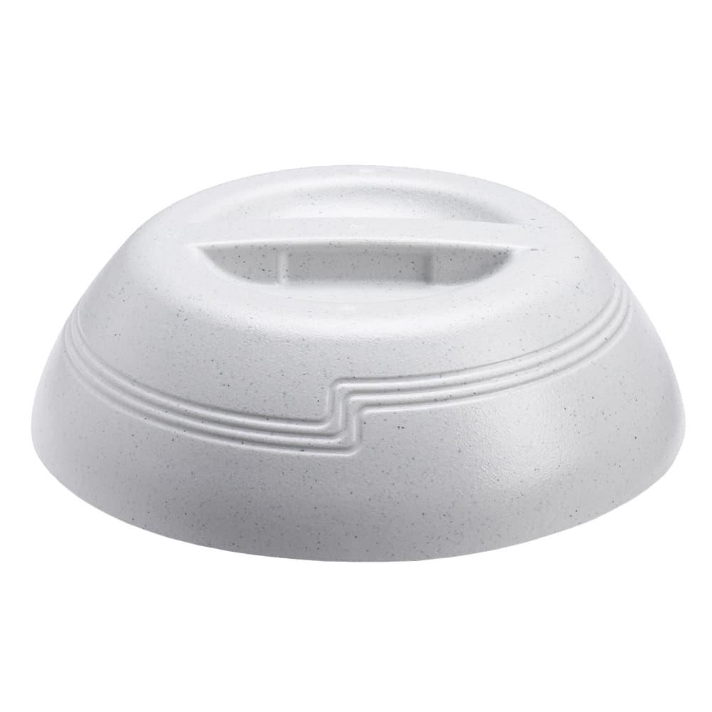 "Cambro MDSLD9480 10"" Shoreline Collection Plastic Dome Cover - Speckled Gray"