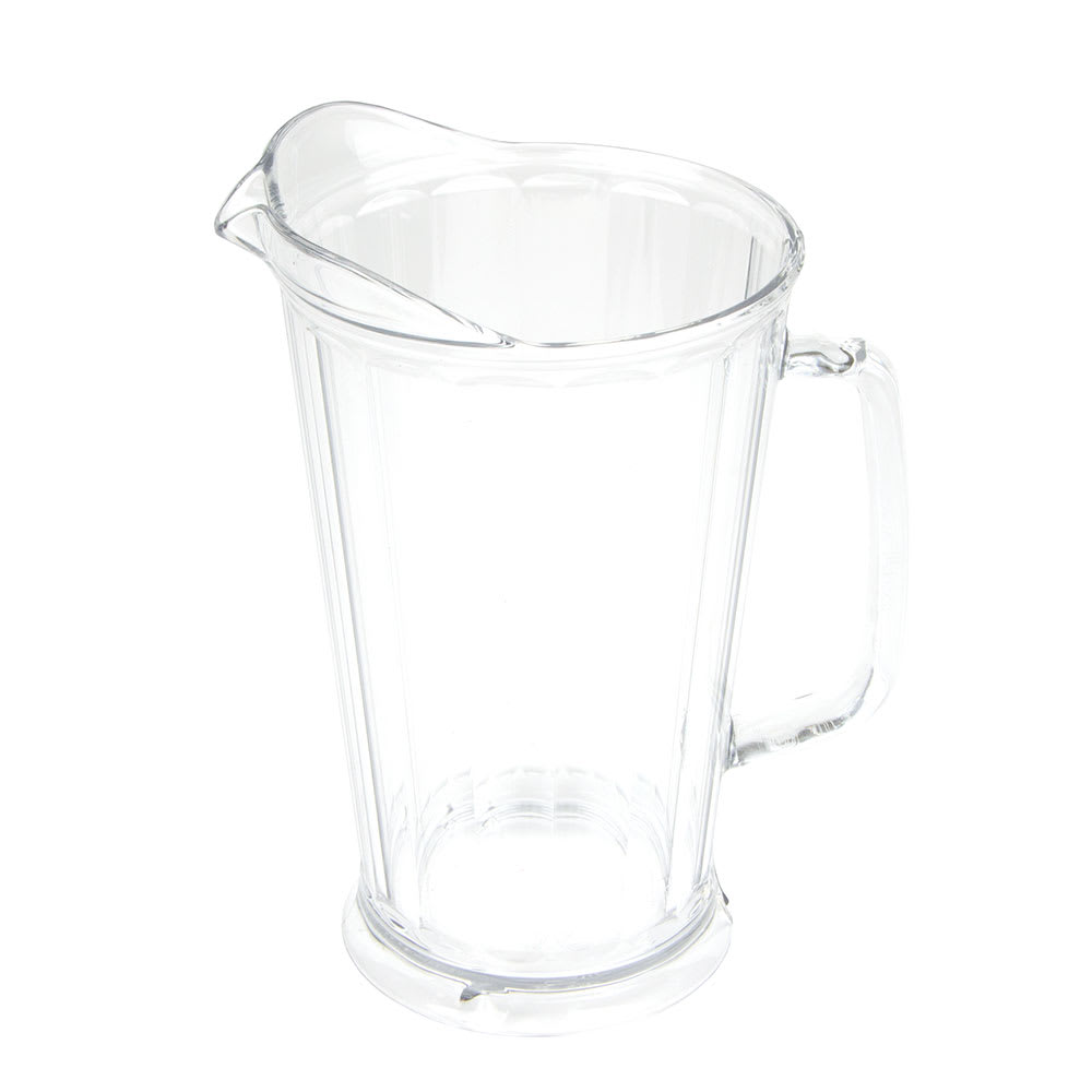 Cambro P64CW135 64 oz Camwear Pitcher - Lip and Pour Spout, Clear