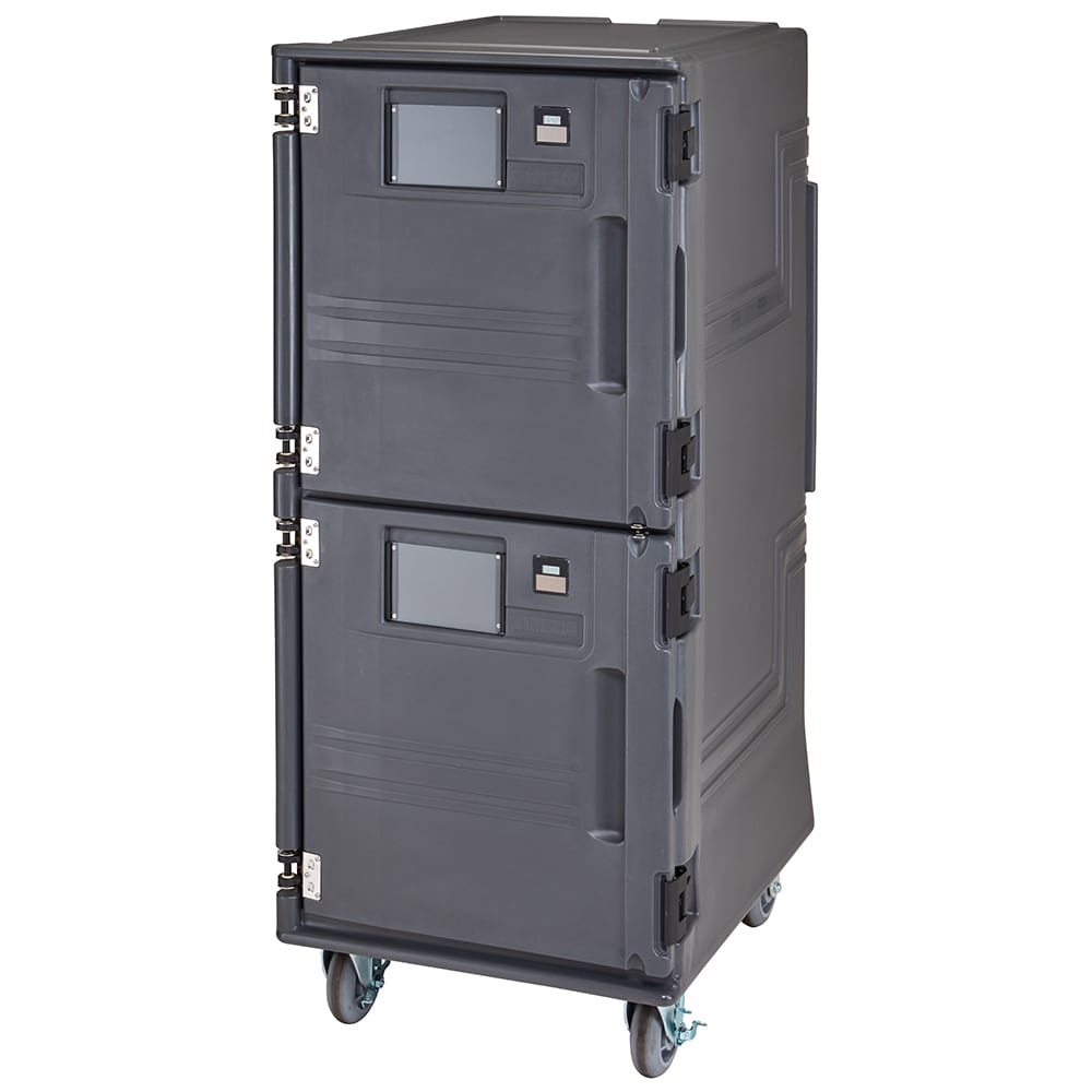 Cambro PCUPC615 Pro Cart Ultra™ Cold Food Pan Carrier w/ 14 Pan Capacity - Charcoal Gray, 110v