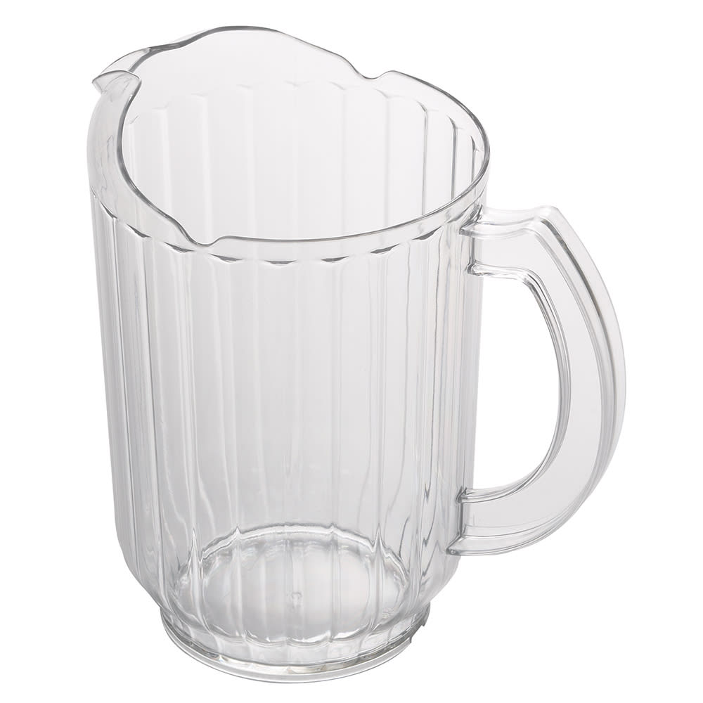 Cambro PE600CW135 60-oz Camwear Pitcher w/ Ice Control Pour Spout, Poly, Clear