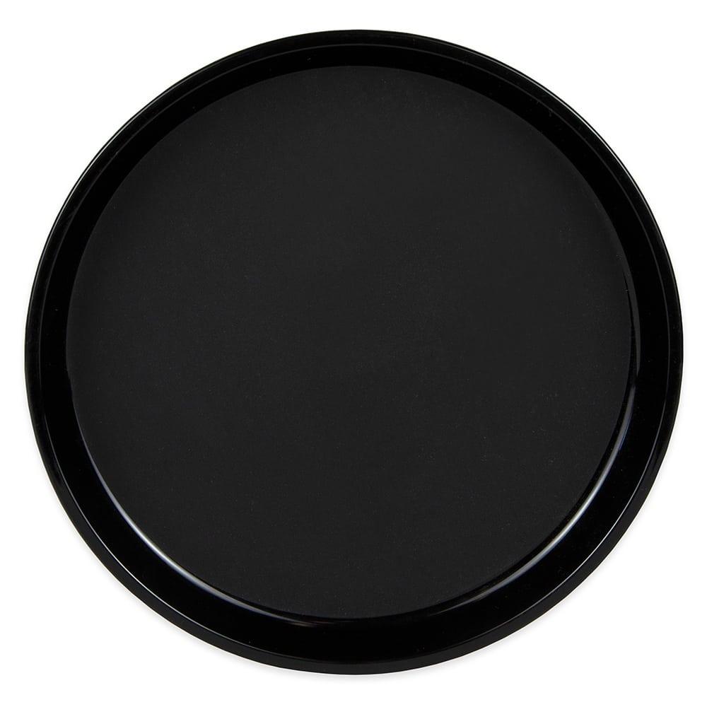 "Cambro PT1100110 11"" Round Polytread Tray - Black"
