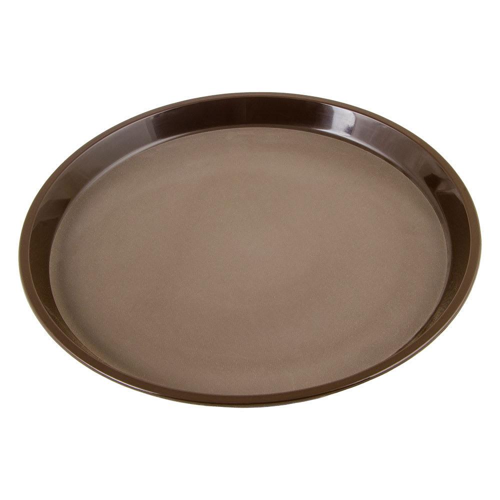 "Cambro PT1100167 11"" Round Polytread Tray - Brown"