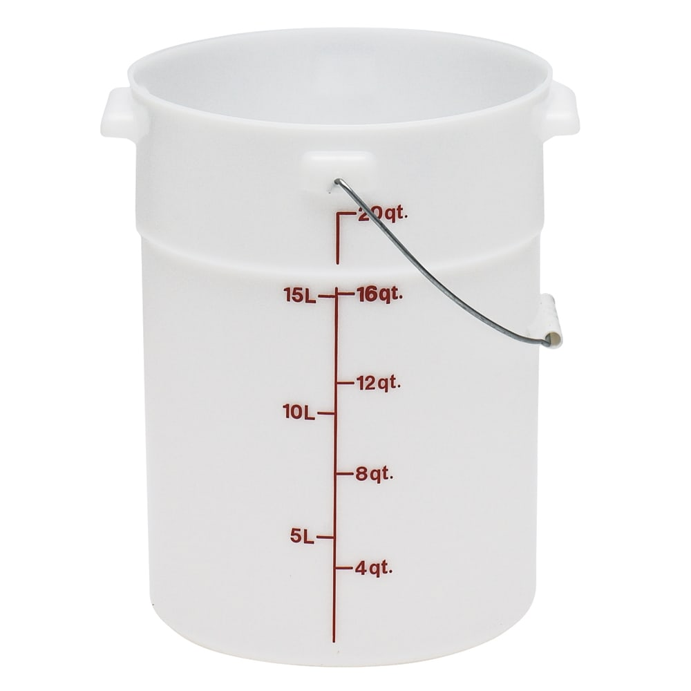 Cambro PWB22148 22-qt Pail with Bail - Natural White