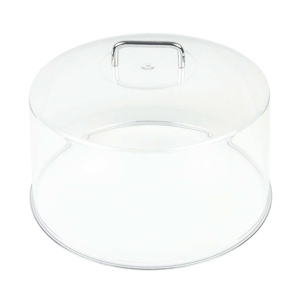 "Cambro RD1200CW135 12"" Camwear Cake Display Cover - Clear/Chrome"