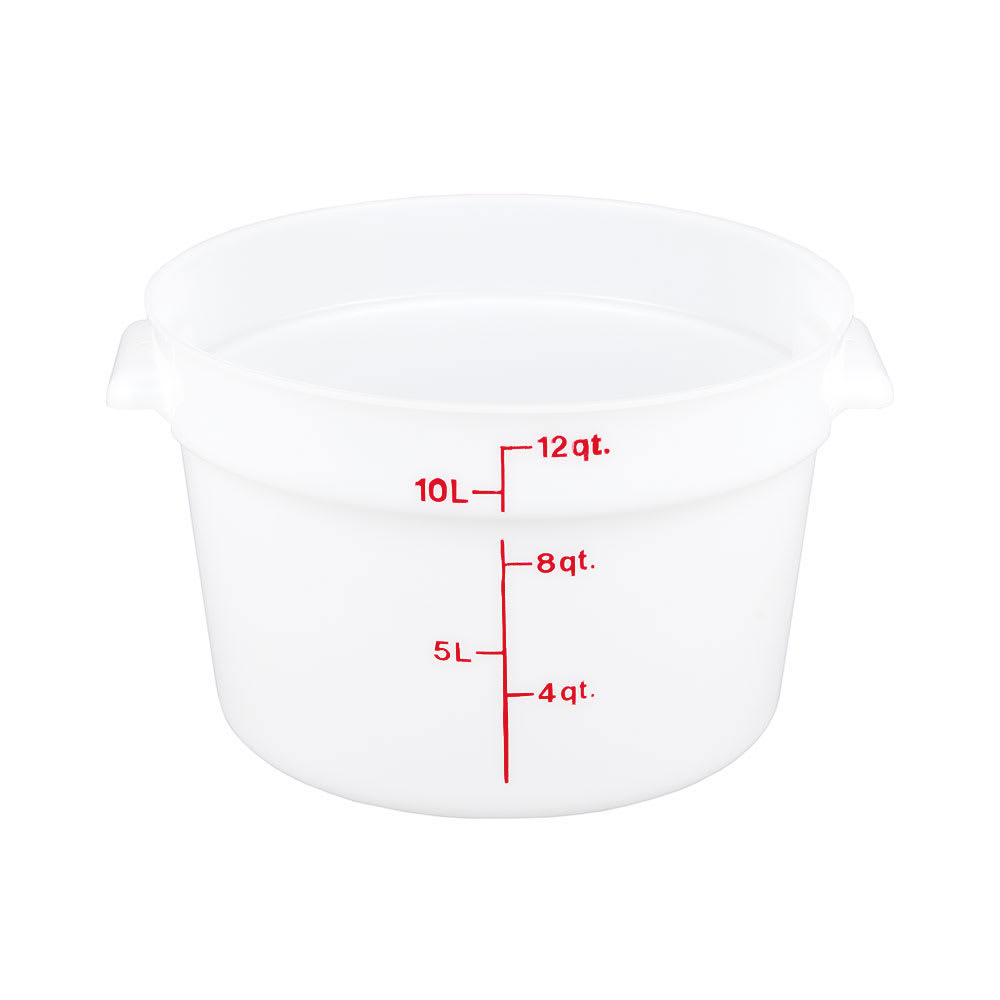 Cambro RFS12148 12 qt Round Storage Container - Natural White