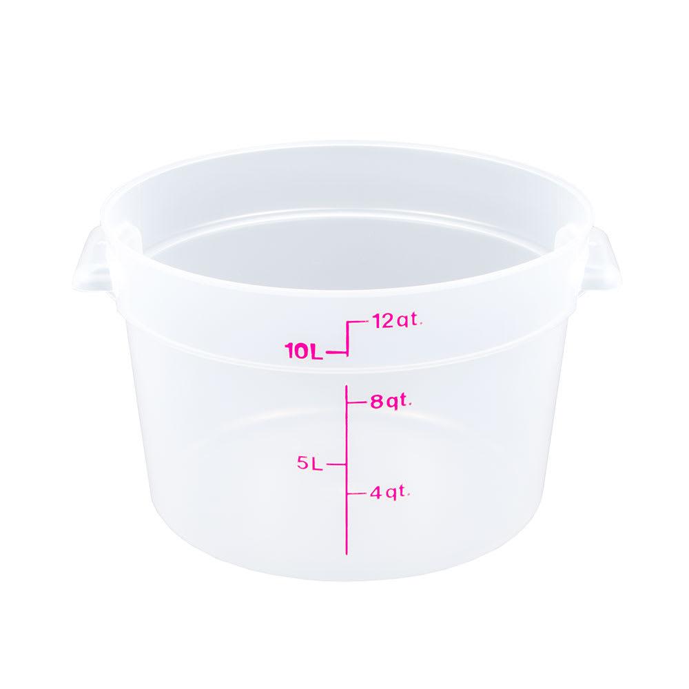 Cambro RFS12PP190 12 qt Round Storage Container - Translucent