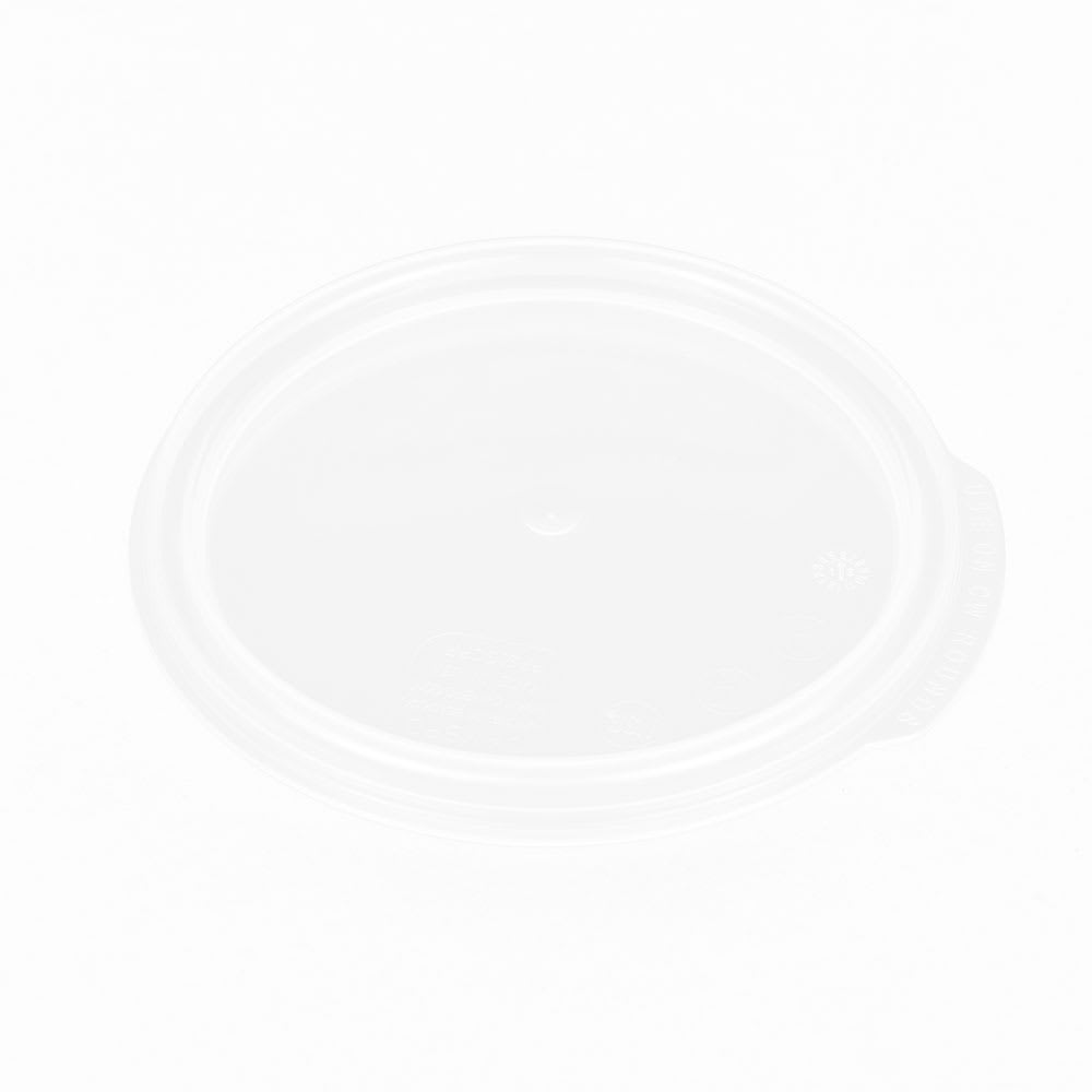 Cambro RFS1SCPP190 Camwear Round Seal Cover for 1-qt Clear Containers, Translucent