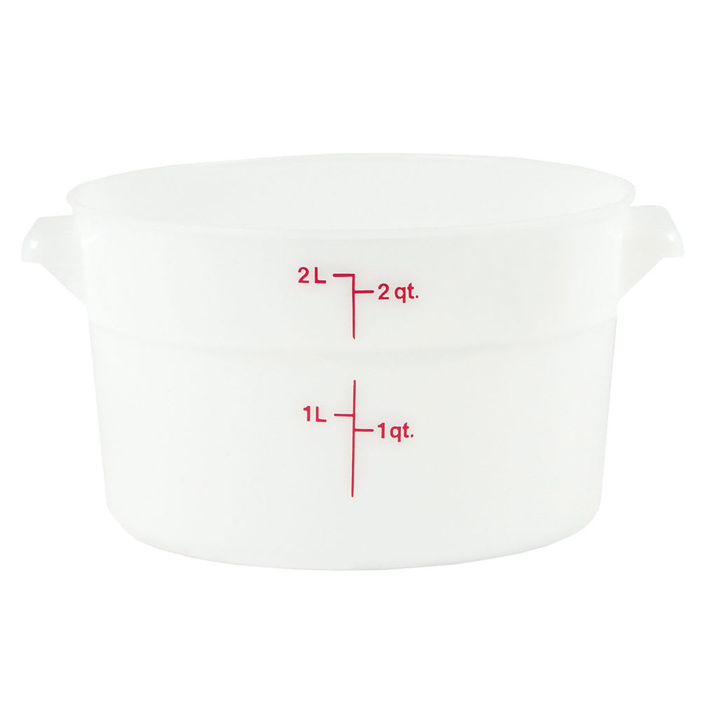 Cambro RFS2148 2 qt Round Storage Container - Natural White