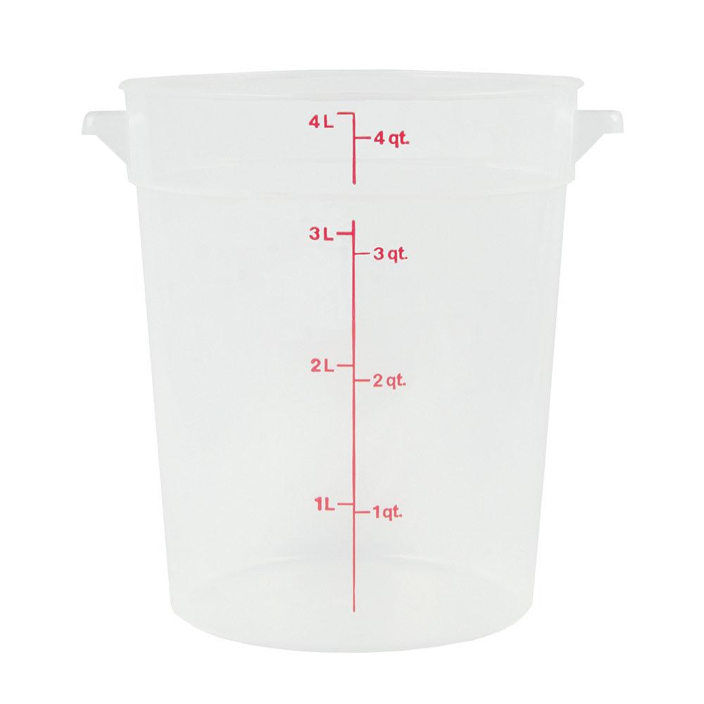 Cambro RFS4PP190 4 qt Round Storage Container - Translucent