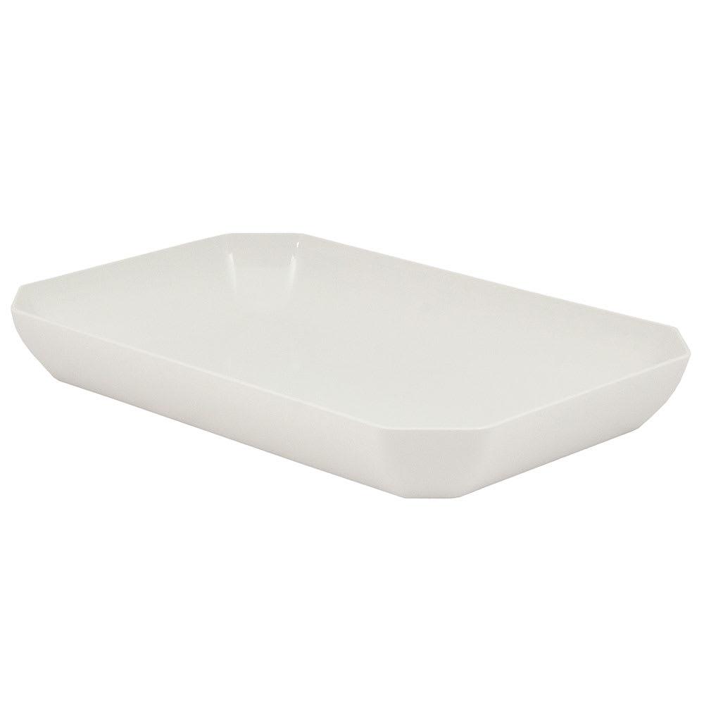 "Cambro SFG1015148 Octagonal Display Tray - 10x15x2"" White"