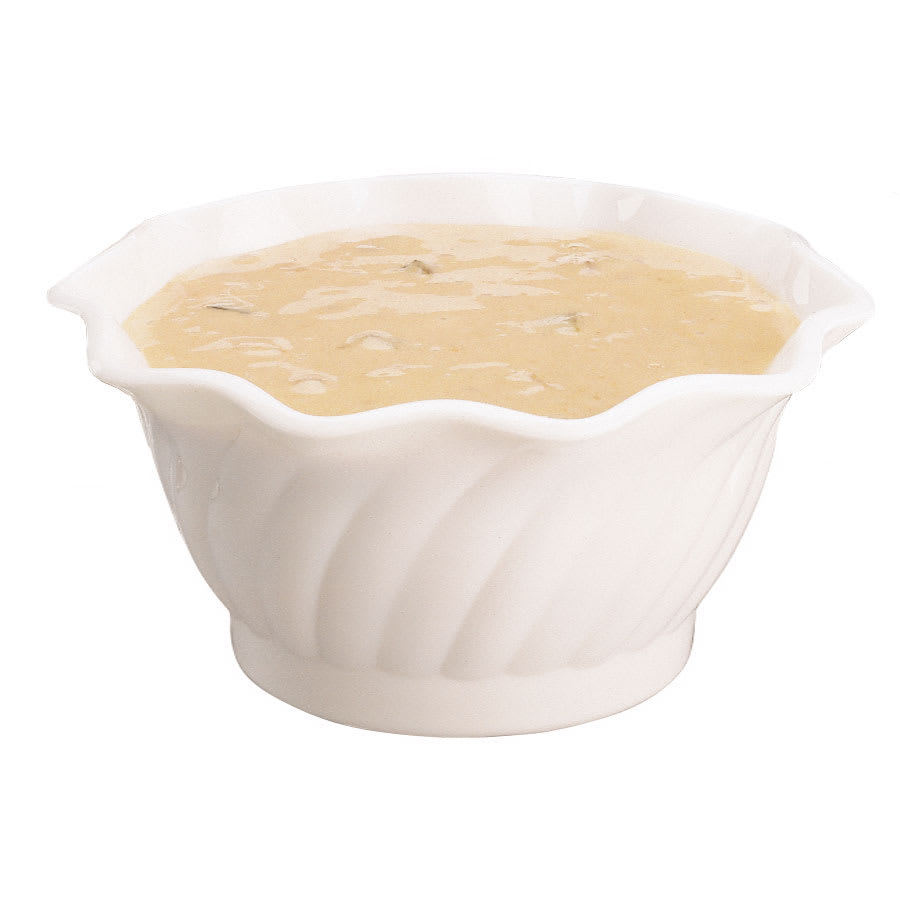 Cambro SRB13148 13-oz Swirl Serving Bowl - SAN, White