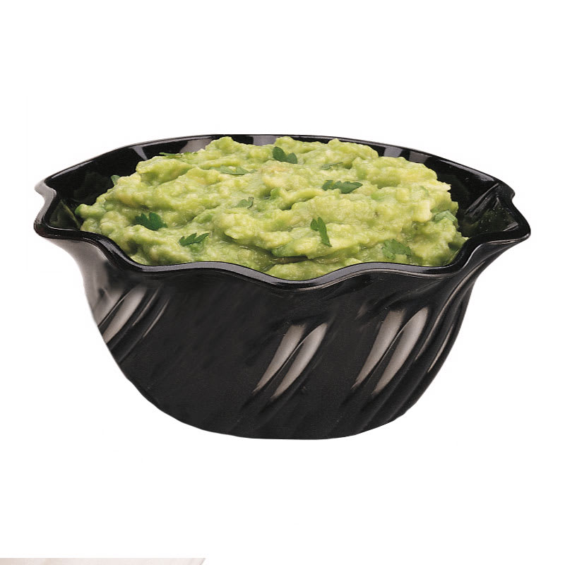 Cambro SRB13CW110 13 oz Swirl Serving Bowl - Polycarbonate, Black