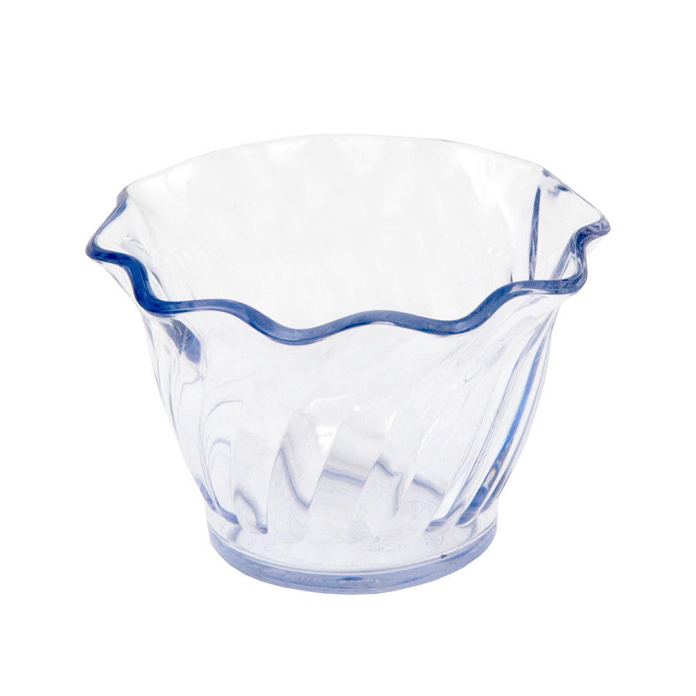 Cambro SRB5152 5-oz Swirl Serving Bowl - SAN, Clear