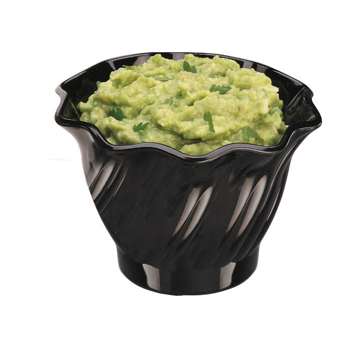 Cambro SRB5CW110 5 oz Swirl Serving Bowl - Polycarbonate, Black