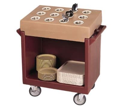 "Cambro TDC2029180 Dish Cart - 38-1/8x22-1/4x34-1/4"" Gray"
