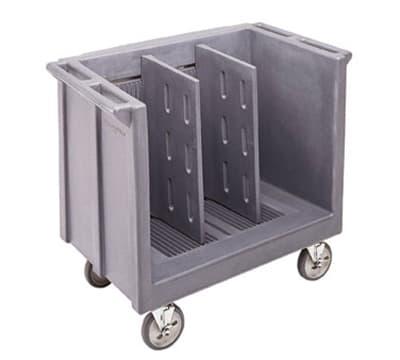 Cambro TDC30180 Adjustable Dish Cart - 2-Dividers, 500-lb Capacity, Gray