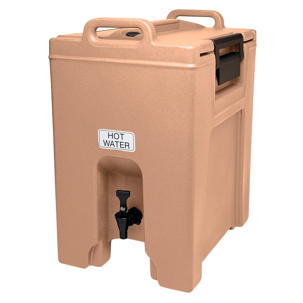 Cambro UC1000157 10-1/2-gal Ultra Camtainer Beverage Carrier - Insulated, Coffee Beige