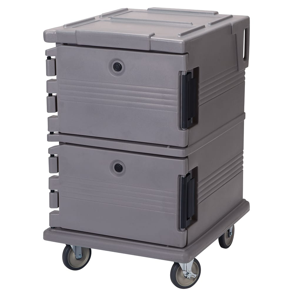 Cambro UPC1200191 90 qt Camcarrier Ultra Pan Carrier - Front Loading, Granite Gray