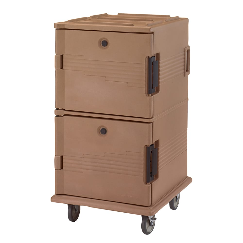 Cambro UPC1600157 120-qt Camcarrier Ultra Pan Carrier - Front Loading, Coffee Beige