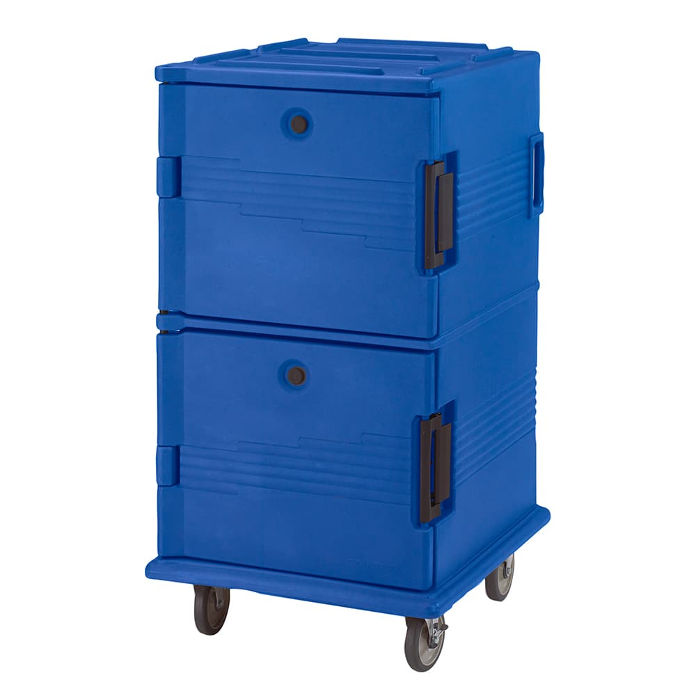 Cambro UPC1600186 120 qt Camcarrier Ultra Pan Carrier - Front Loading, Navy Blue