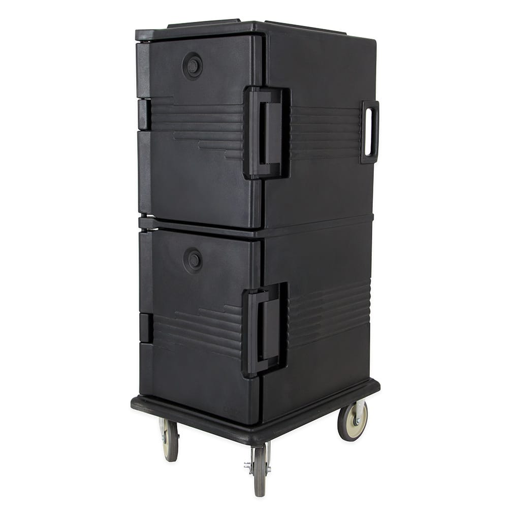 Cambro UPC800110 60-qt Camcart Ultra Pan Carrier - Front Loading, Black
