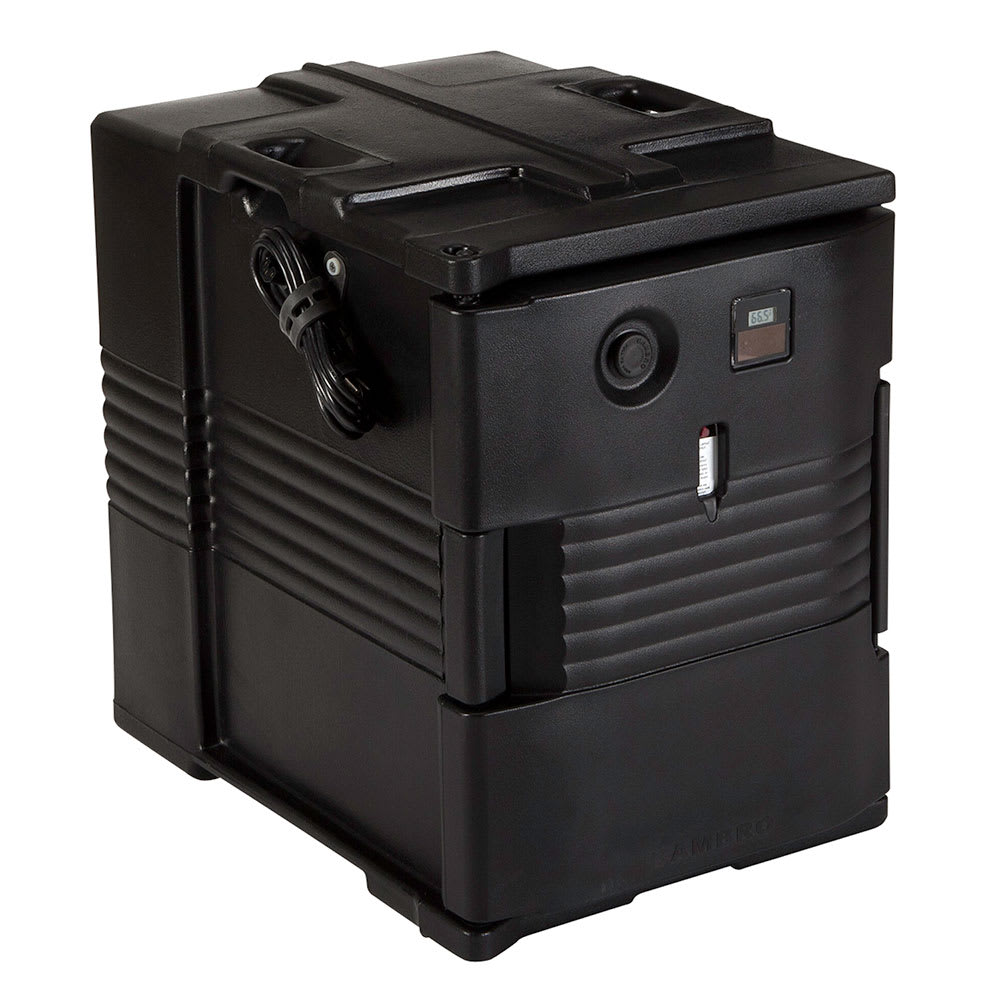 Cambro UPCH4002110 Camcarrier Hot Ultra Pancarrier - Front Loading, Black 220v
