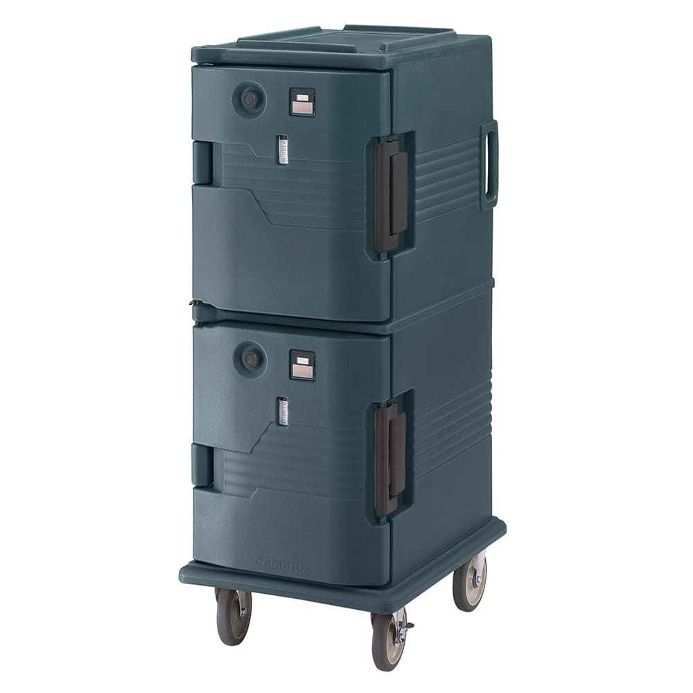 Cambro UPCH800192 Camcart Hot Ultra Pancarrier - Front Loading, Granite Green 110v