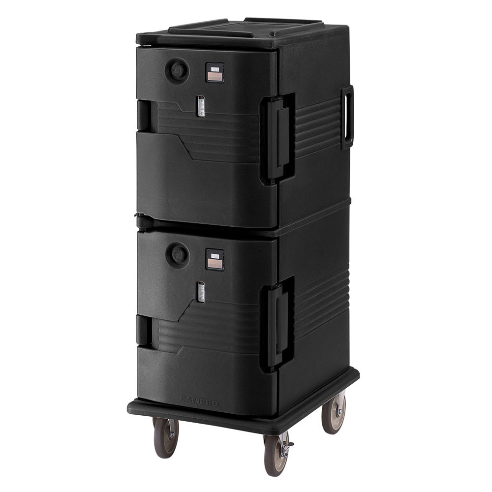 Cambro UPCH8002110 Camcart Hot Ultra Pancarrier - Front Loading, Black 220v