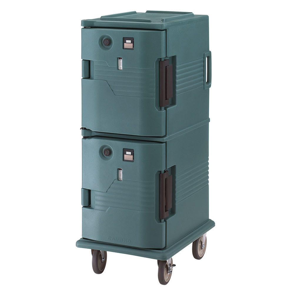 Cambro UPCH8002192 Camcart Hot Ultra Pancarrier - Front Loading, Granite Green 220v