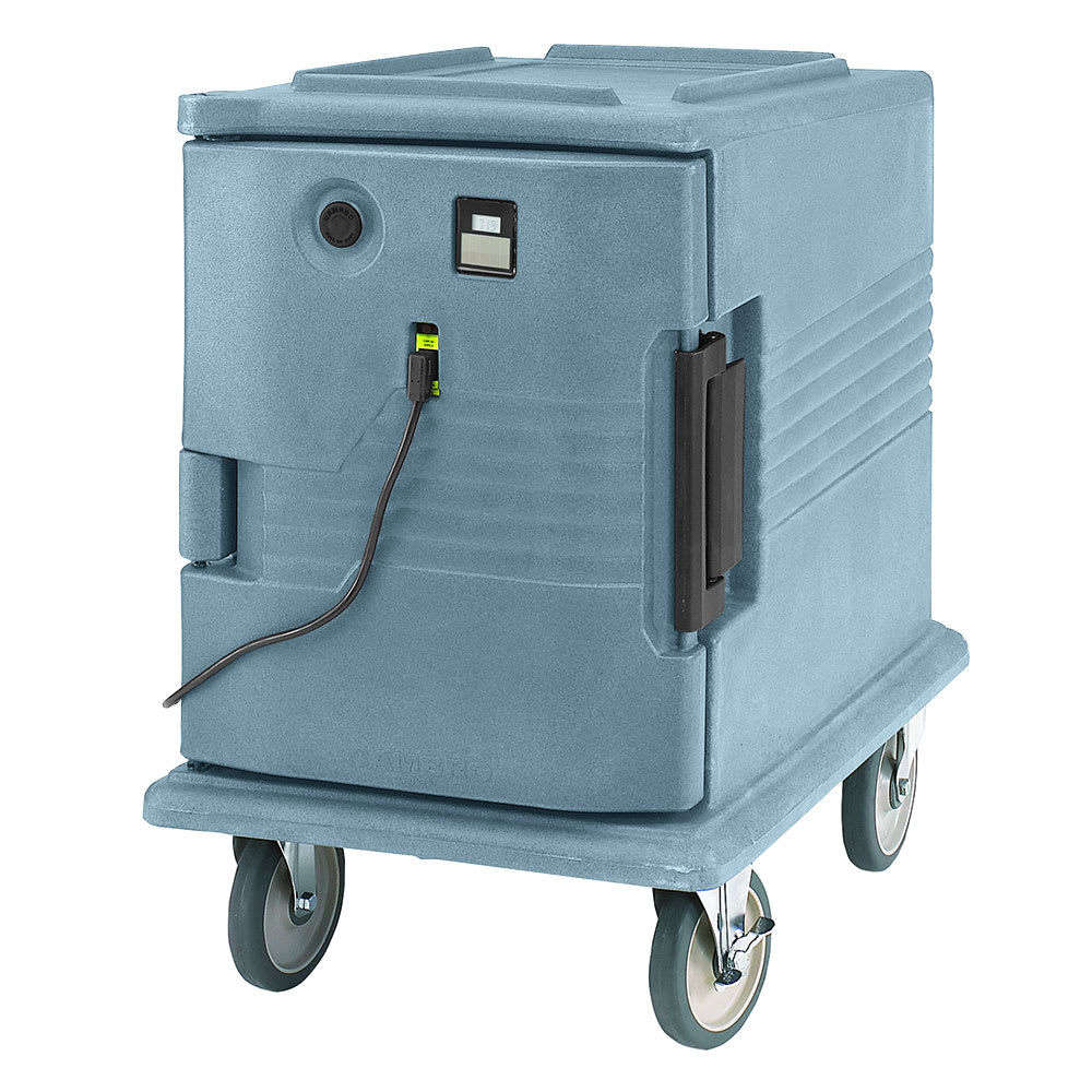 Cambro UPCHW4002401 Camcarrier Heated Pancarrier - Front Loading, Slate Blue 220v