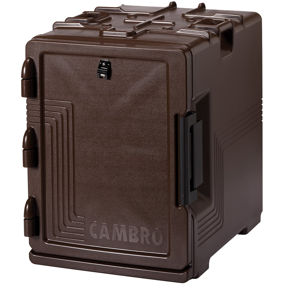 Cambro UPCS400131 60 qt Ultra Pancarrier - Front Loading, Dark Brown