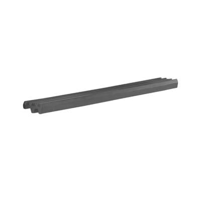 "Cambro VBRR6191 72"" Versa Food Bar Tray Rail, Gray"