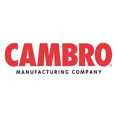 """Cambro VCS32CNT158 27"""" Straight Connector  for Versa Cart, Red"""