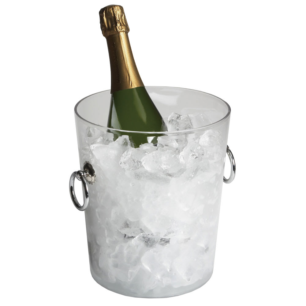 """Cambro WC100CW135 8"""" Wine Cooler/Bucket with Handles - Clear"""