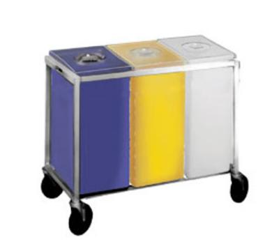 Winholt 148PIB Ingredient Bin, Triple, White/Yellow/Blue, 3 Covers, 225 lb Capacity