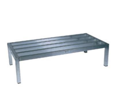 "Win-Holt ALSQ41220 48"" Stationary Dunnage Rack w/ 2500-lb Capacity, Aluminum"