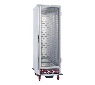 Winholt NHPL-1825-UNC Full Height Non-Insulated Mobile Heated Cabinet w/ (28) Pan Capacity, 120v