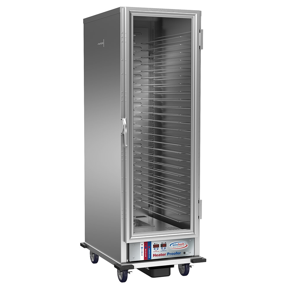 Winholt NHPL-1825-UNC-DGT Full Height Non-Insulated Mobile Heated Cabinet w/ (28) Pan Capacity, 120v