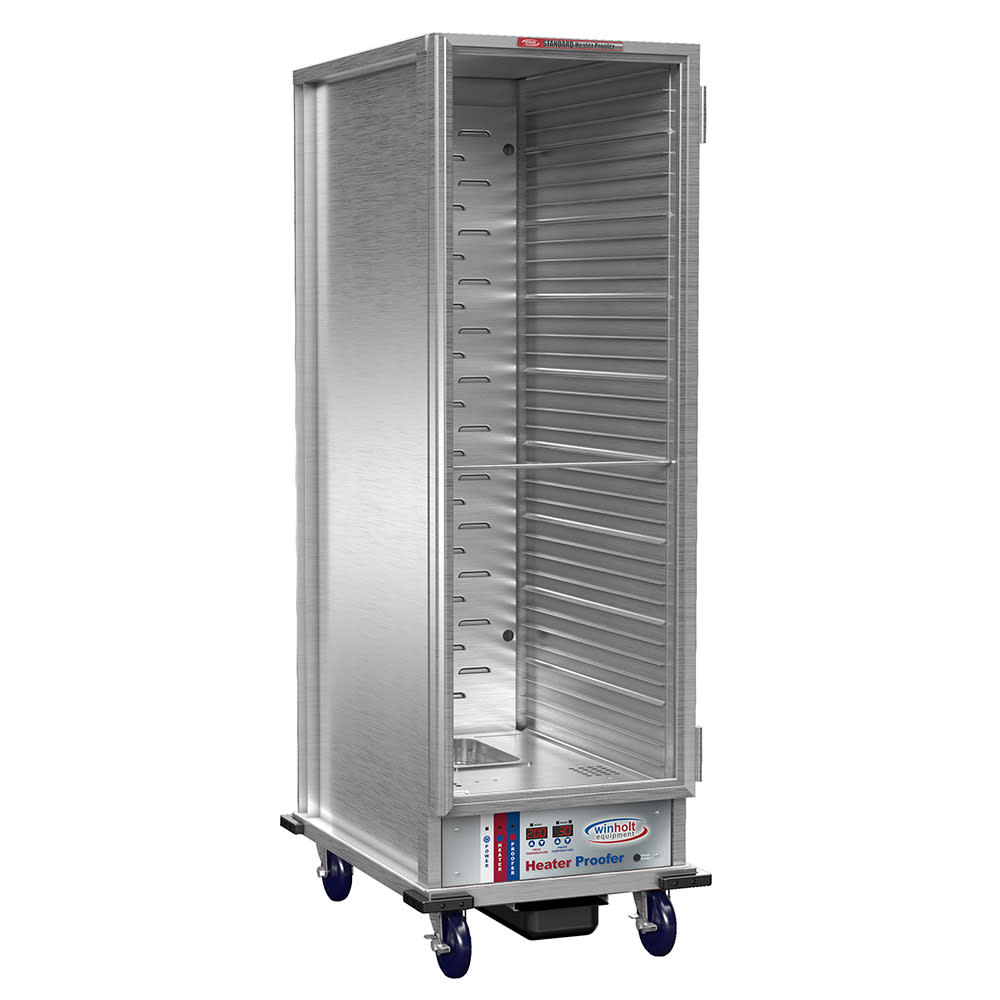 Winholt NHPL-1836C-DGT Full Height Non-Insulated Mobile Heated Cabinet w/ (35) Pan Capacity, 120v