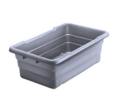 "Winholt WHPL8GY Polyethylene Lug, 16"" X 25"" X 8 in, 100 lb. Capacity, Grey"